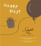 Подарок и воздушный шар Стоковое Изображение
