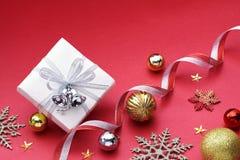 Подарок и украшение рождества Стоковая Фотография RF