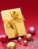 Подарок и украшение рождества Стоковое Изображение RF