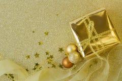 Подарок и украшения рождества Стоковое Изображение RF