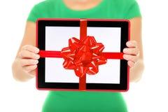 Подарок компьютера таблетки Стоковое фото RF