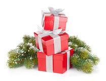 подарок 3 конструкции рождества карточки коробок Стоковое фото RF