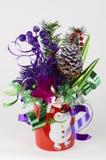 Подарок корзин конфеты для украшения таблицы Нового Года Стоковые Изображения