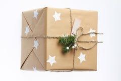 подарок коробки handmade Пейзаж рождества Новый Год Стоковые Фото