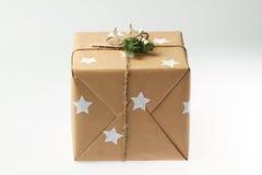 подарок коробки handmade Пейзаж рождества Новый Год Стоковые Изображения