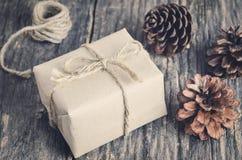 подарок коробки handmade Стоковая Фотография
