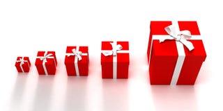 подарок крещендо коробок Стоковое Изображение RF