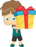Подарок мальчика Иллюстрация штока