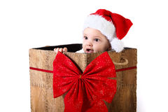Подарок младенца рождества Стоковое фото RF