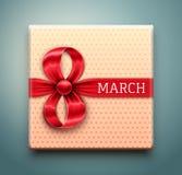 Подарок на 8-ое марта иллюстрация вектора