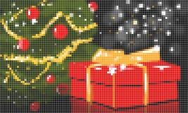 Подарок Нового Года вектора иллюстрация вектора