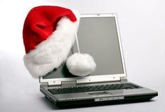 Подарок рождества - компьтер-книжка Стоковое Фото