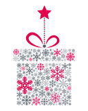 Подарок рождества снежинок бесплатная иллюстрация