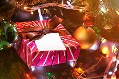 Подарок рождества для детей Стоковое Фото