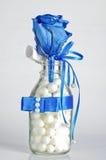 Подарок розы сини стоковое фото
