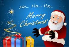 Подарок Санта Клауса Стоковое фото RF