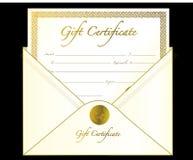 подарок сертификата Стоковая Фотография RF