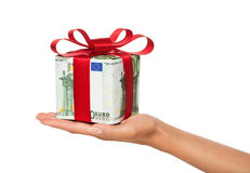 подарок 100 смычка счета одна красная тесемка Стоковое Изображение RF