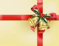 подарок смычков колоколов Стоковая Фотография