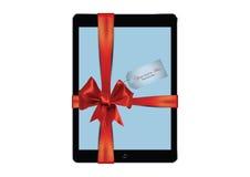 Подарок таблетки цифров Стоковые Изображения RF