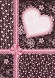 Подарок украшенный с сердцем. Карточка праздника. Стоковые Фотографии RF