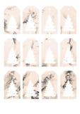 Подарок цвета воды рождества маркирует и ярлыки Стоковые Изображения