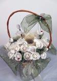 подарок цветков корзины Стоковая Фотография RF