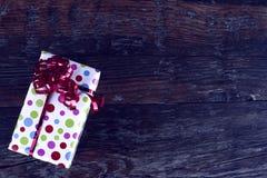 Подарок для рождества красивейший настоящий момент Стоковое Изображение