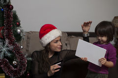 Подарок ` s кредитных карточек и Нового Года Стоковое фото RF