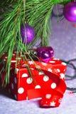 Подарок ` s Новый Год Стоковое Фото