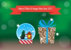 Подарок 2017 XMas & Нового Года Стоковое фото RF