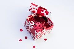 Подарочная коробка валентинки Стоковое Изображение