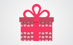 Подарочная коробка вектора дня валентинок Стоковая Фотография RF