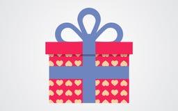 Подарочная коробка вектора дня валентинок Иллюстрация вектора