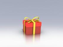 Подарочная коробка над иллюстрацией предпосылки 3d Стоковые Фото