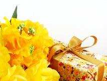 Подарочная коробка присутствующая Стоковое Фото