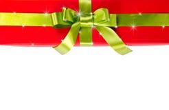 Подарочная коробка рождества с звездами Стоковая Фотография
