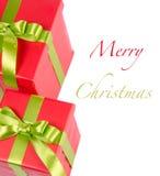 Подарочная коробка рождества Стоковое фото RF
