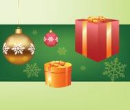 Подарочная коробка рождества Стоковое Изображение