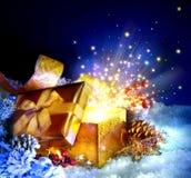 Подарочная коробка рождества Стоковые Фото