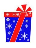 Подарочная коробка с снежинками Стоковые Изображения