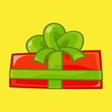 Подарочная коробка для иллюстрации рождества стоковое изображение rf