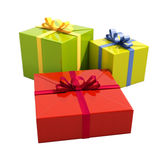 3 подарочной коробки закрывают вверх Стоковые Изображения RF