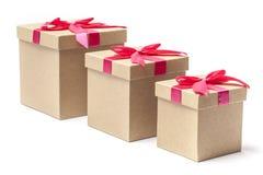 3 подарочной коробки - изображение запаса Стоковое фото RF