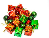 Подарочные коробки, женятся cristmas стоковые фотографии rf