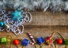 Подарочные коробки, игрушки рождества Стоковое Изображение RF