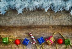 Подарочные коробки, игрушки рождества Стоковые Фото