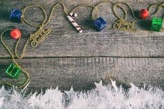 Подарочные коробки, игрушки рождества Стоковая Фотография RF
