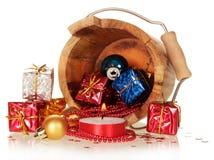 Подарочные коробки и игрушки рождества Стоковые Фото