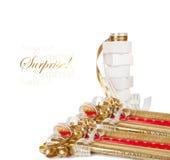 Подарочные коробки и крены упаковочной бумаги Стоковая Фотография